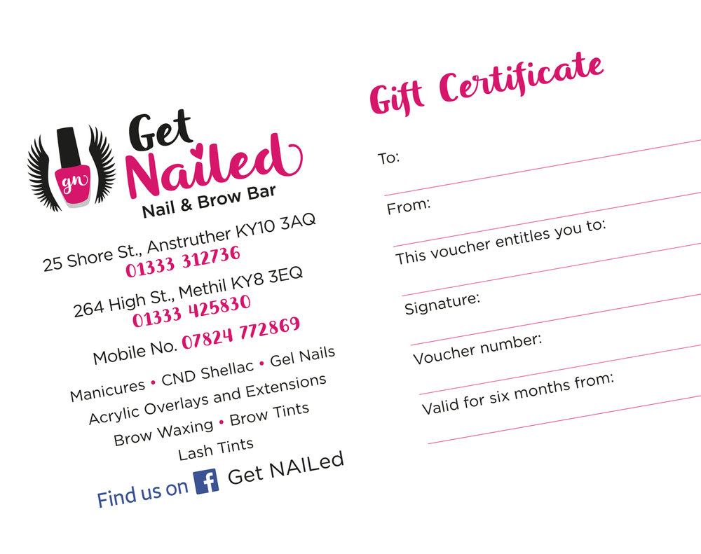 Designing gift vouchers : Design and print.