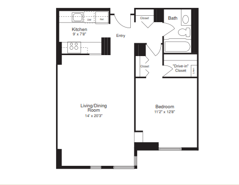 One Bedroom - 700 SQFT