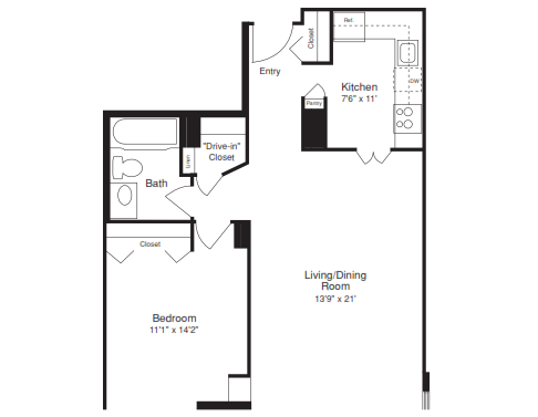 One Bedroom - 720 SQFT