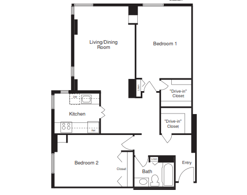 Two Bedroom - 1000 SQFT