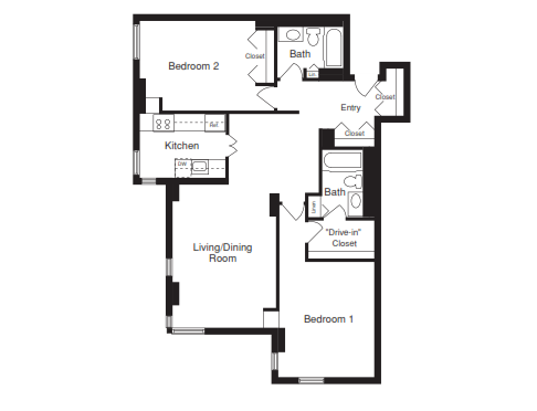 Two Bedroom - 1010 SQFT
