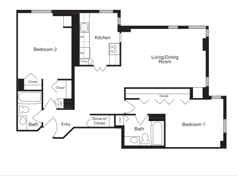 Two Bedroom - 1050 SQFT