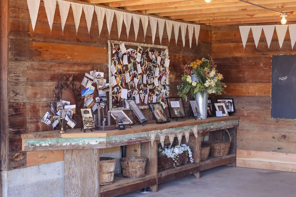 Event barn guestbook area