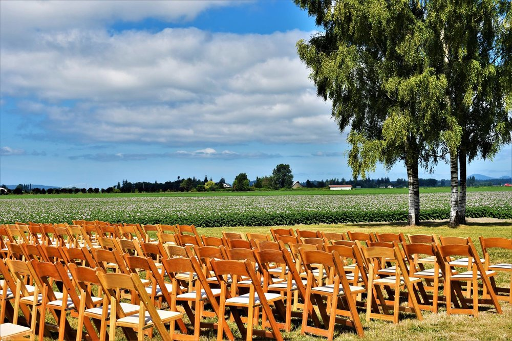a ceremony in the field