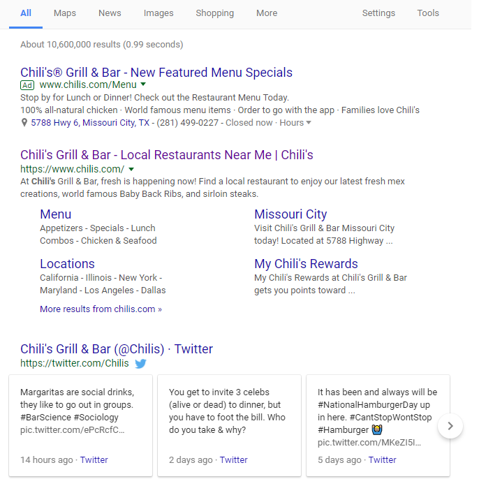 Chilis Search @ Top.. Twitter High SEO.png