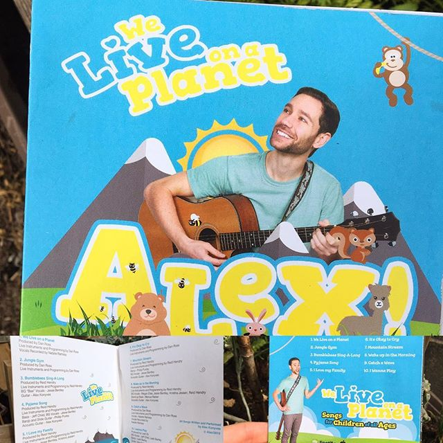 CD's printed and ready for your CD player! 10 original songs for the whole family to enjoy... #weliveonaplanet #alex! #pyjamasong #garden #music #socan #canadian #canada #childrensmusic #children #kids #kidsmusic