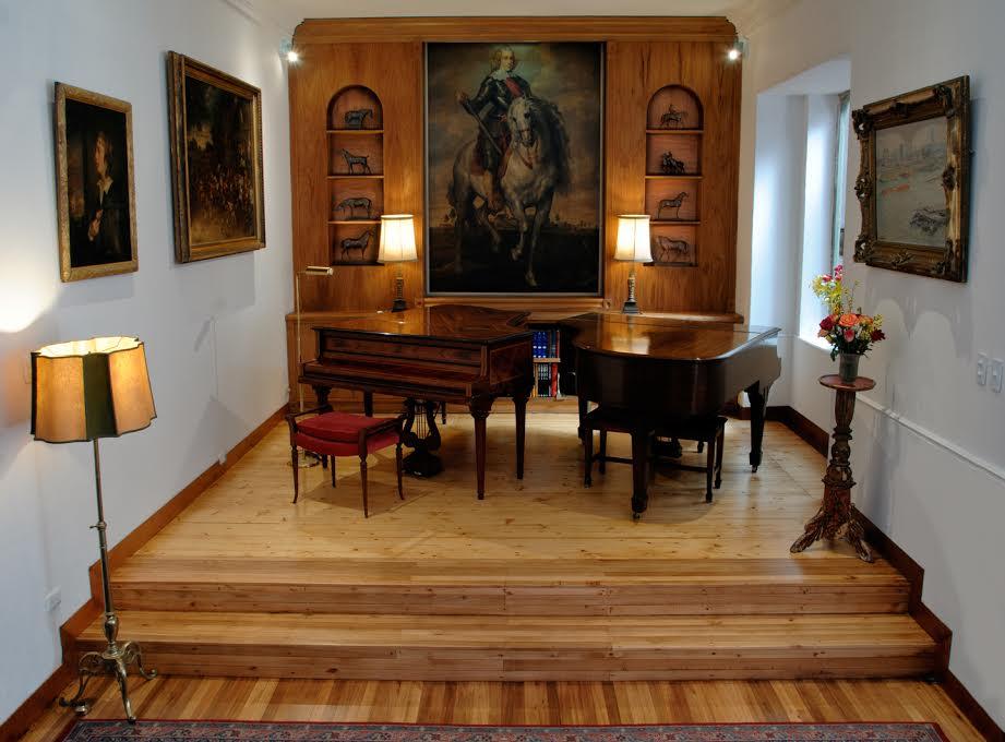 Sala de música Villa Celia. Foto Cortesía