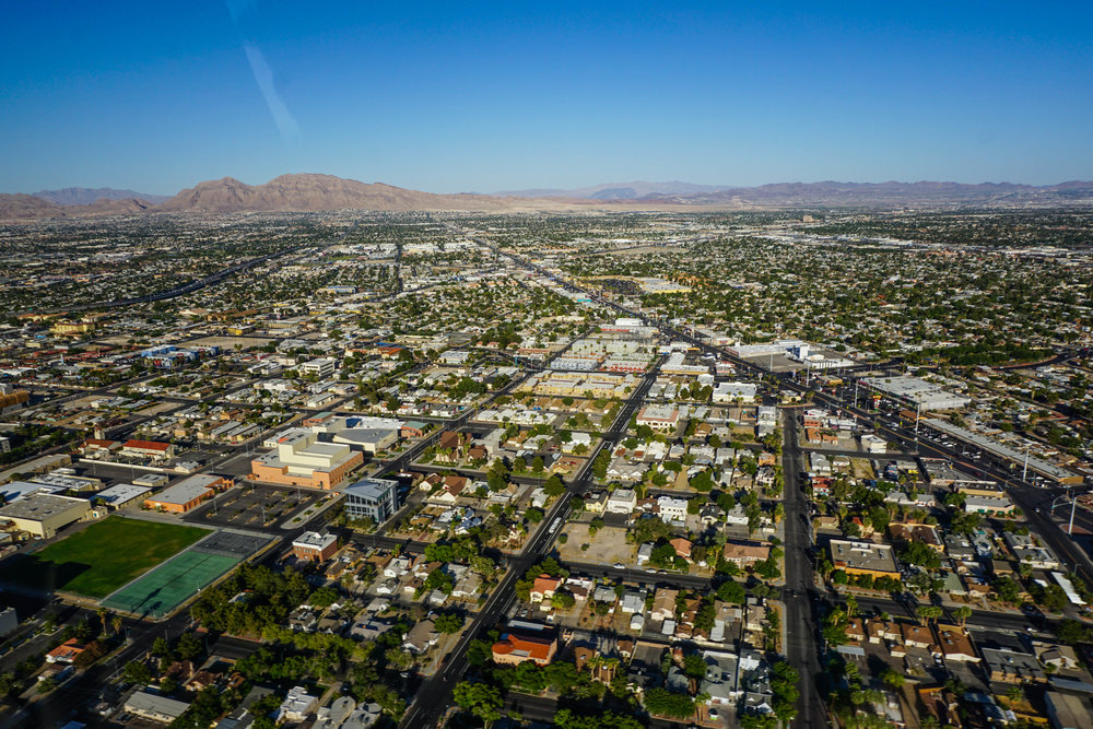 View of vegas suburbs