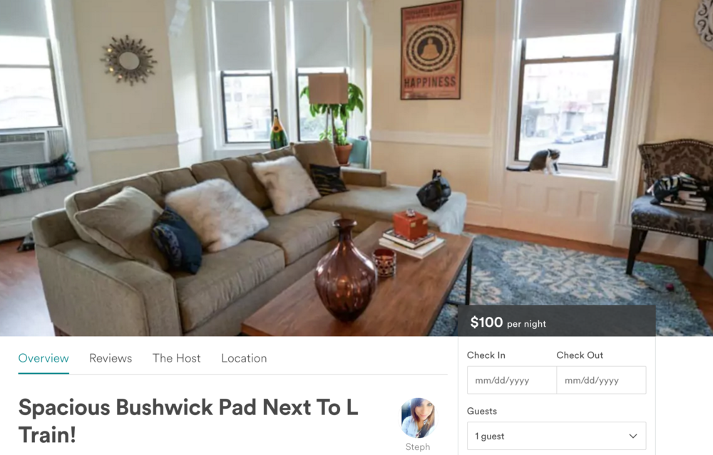 A preview of our AirBnb listing. I'm not even gonna lie, I just think our apartment is too cute (and our cat, Bubble, too)