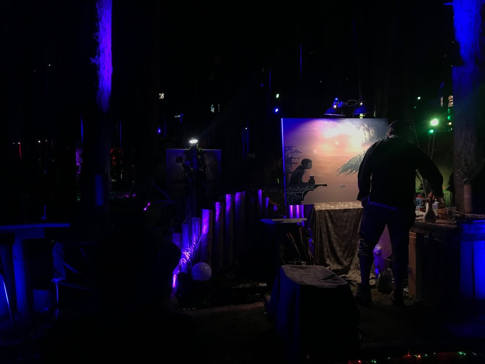 Live painting going on all day and night