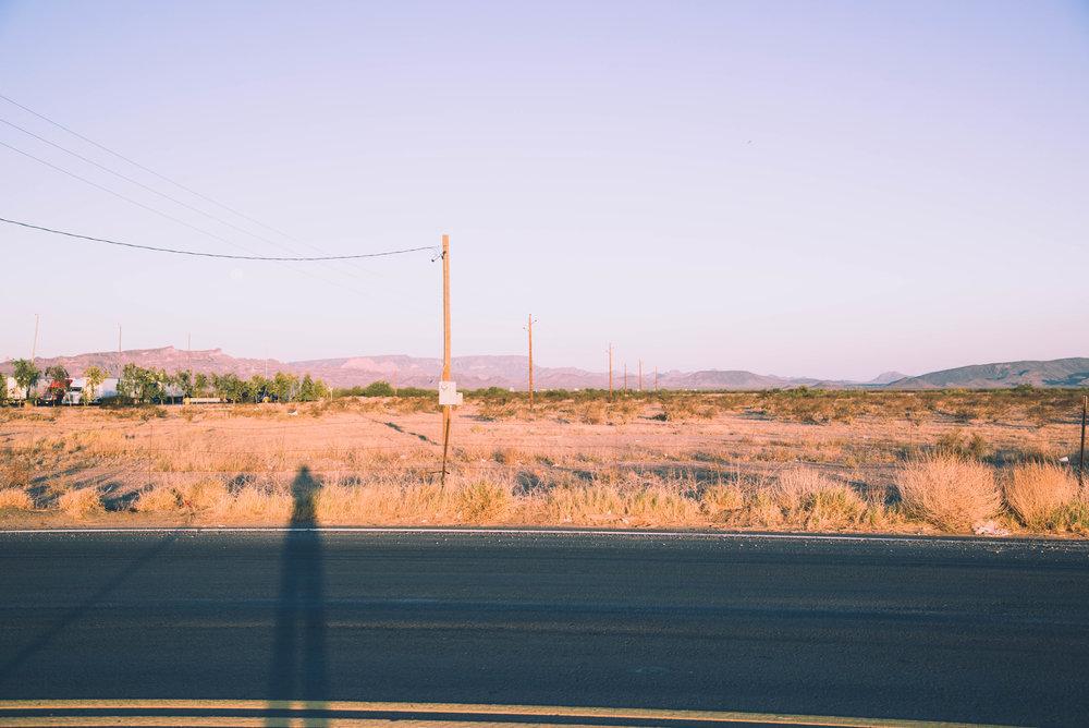 Desert sunrise in Centennial, AZ.