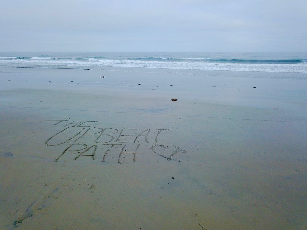 Leaving our mark and reminding Solana Beach to always take the Upbeat Path. ;)