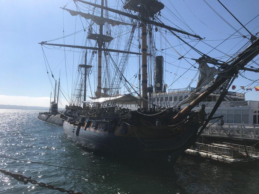 Historic Sail Boats along the San Diego Bay.