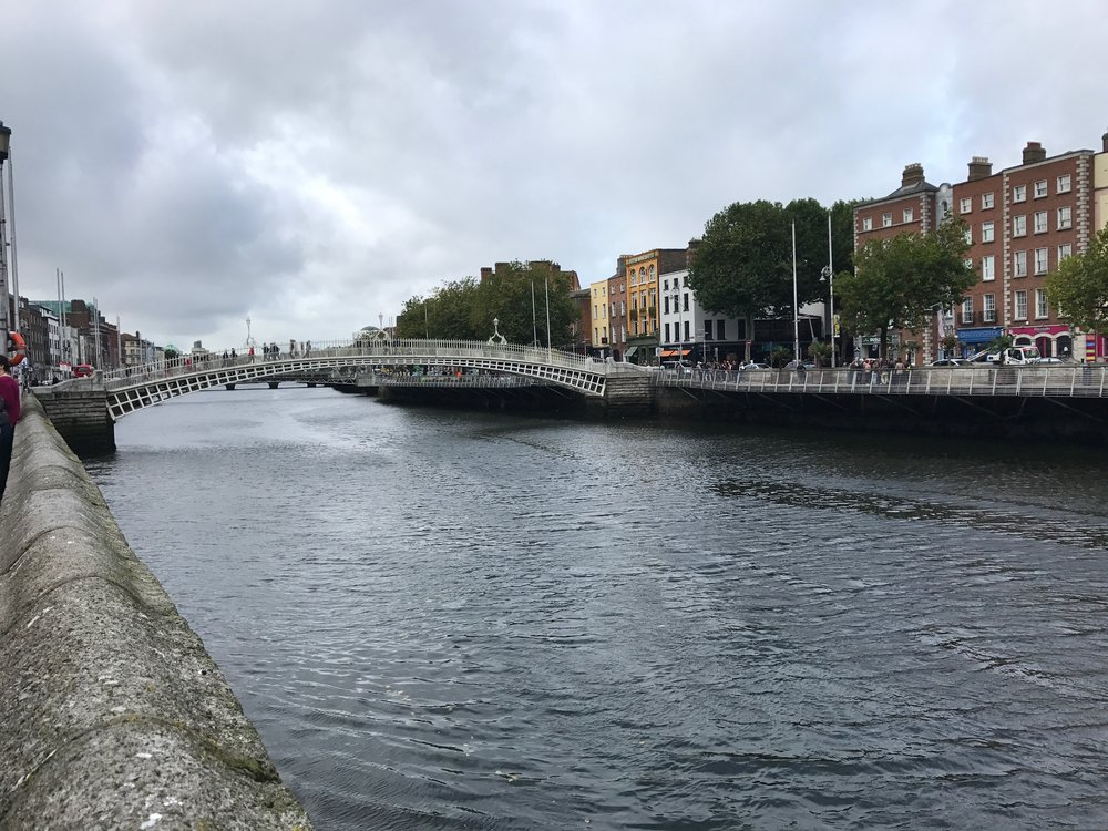 The Ha'Penny Bridge, constructed in 1816!