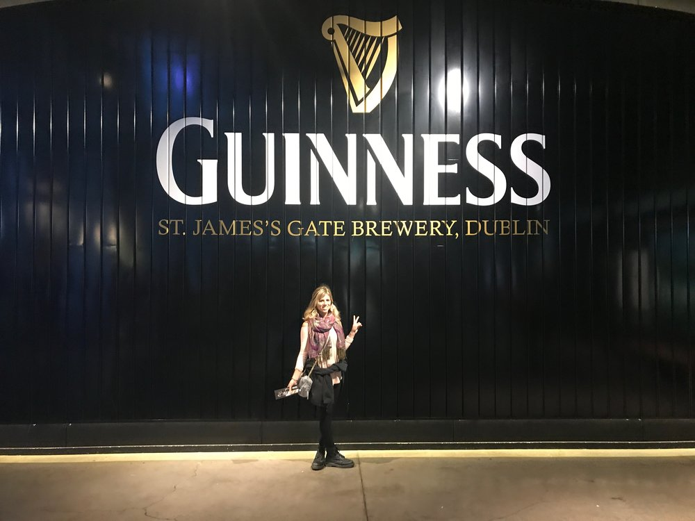 Guinness Storehouse is a popular tourist attraction in Dublin, Ireland.