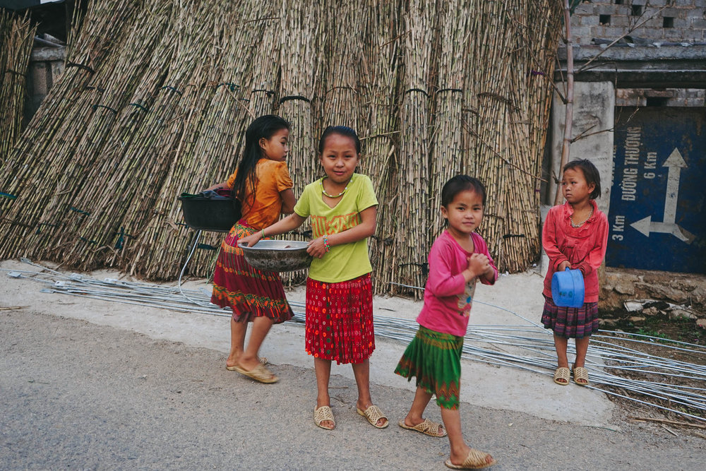 Ethnic minority children of the Ha Giang Province in northern Vietnam.