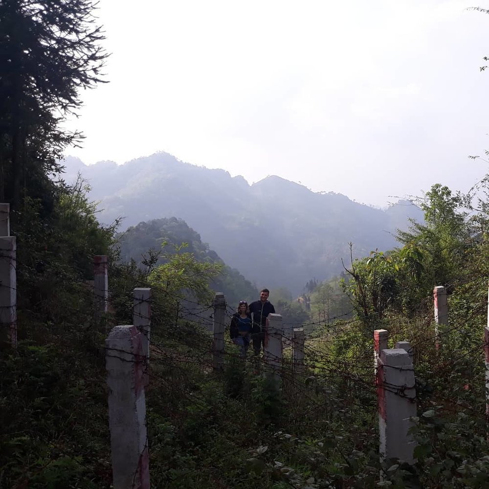 Standing at the China-Vietnam border!