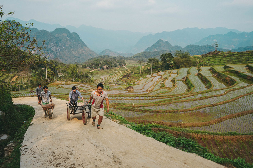 A typical view whilst trekking and wandering around Mai Chau