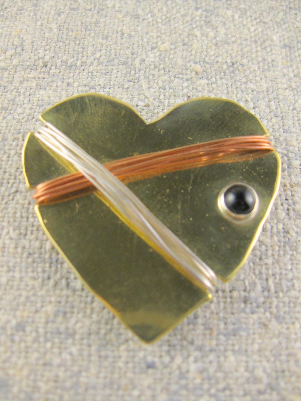 captured heart pin