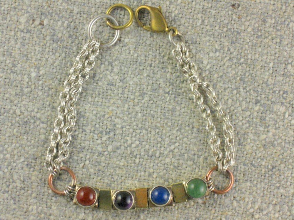 gem squares bracelet