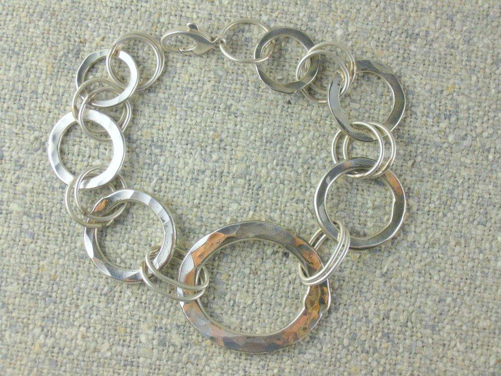 sterling hammerchain bracelet
