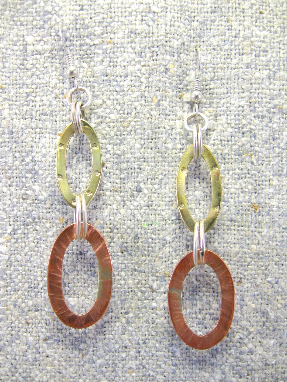 dangled ovals earrings