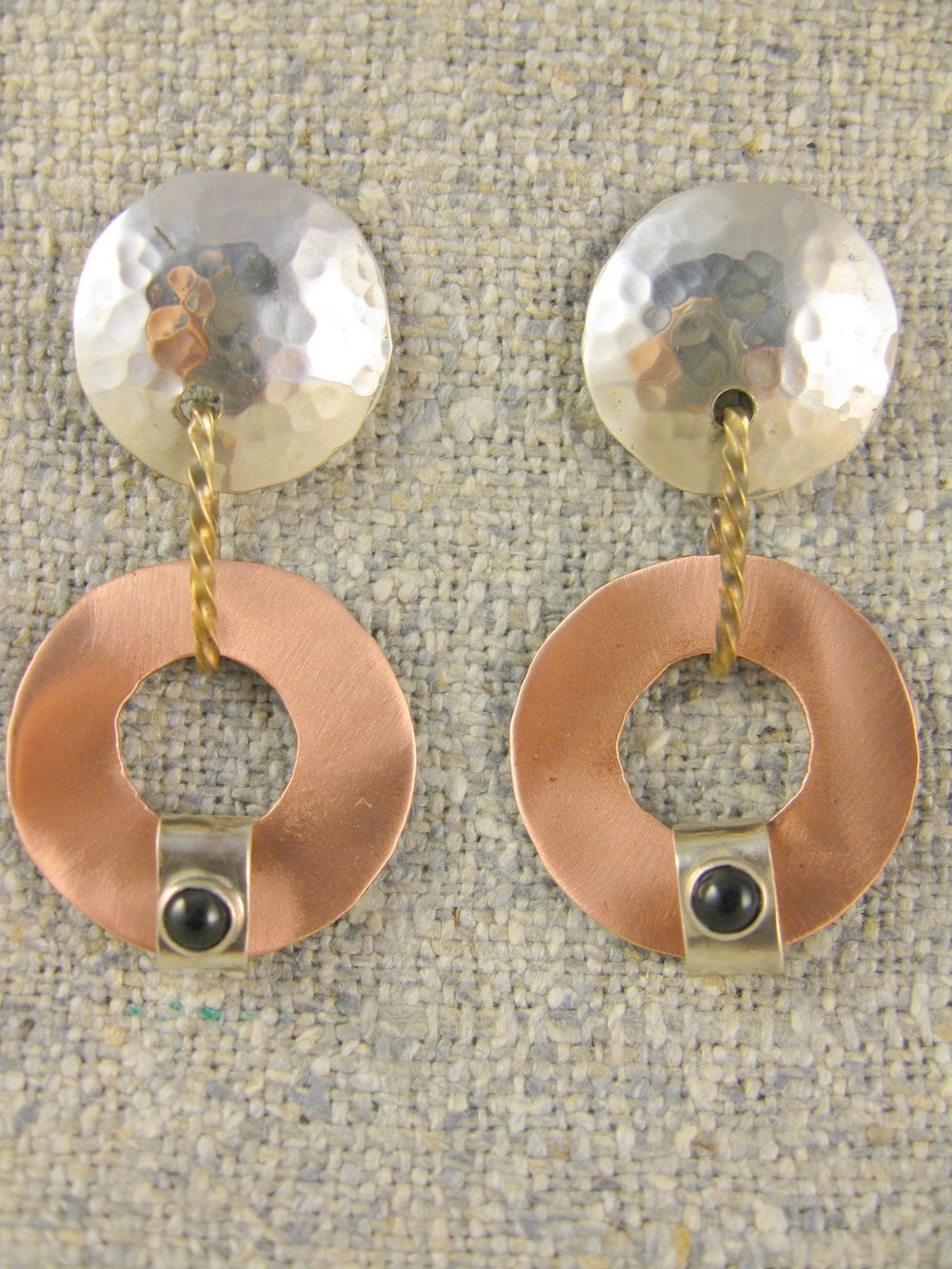 hooped drop earrings