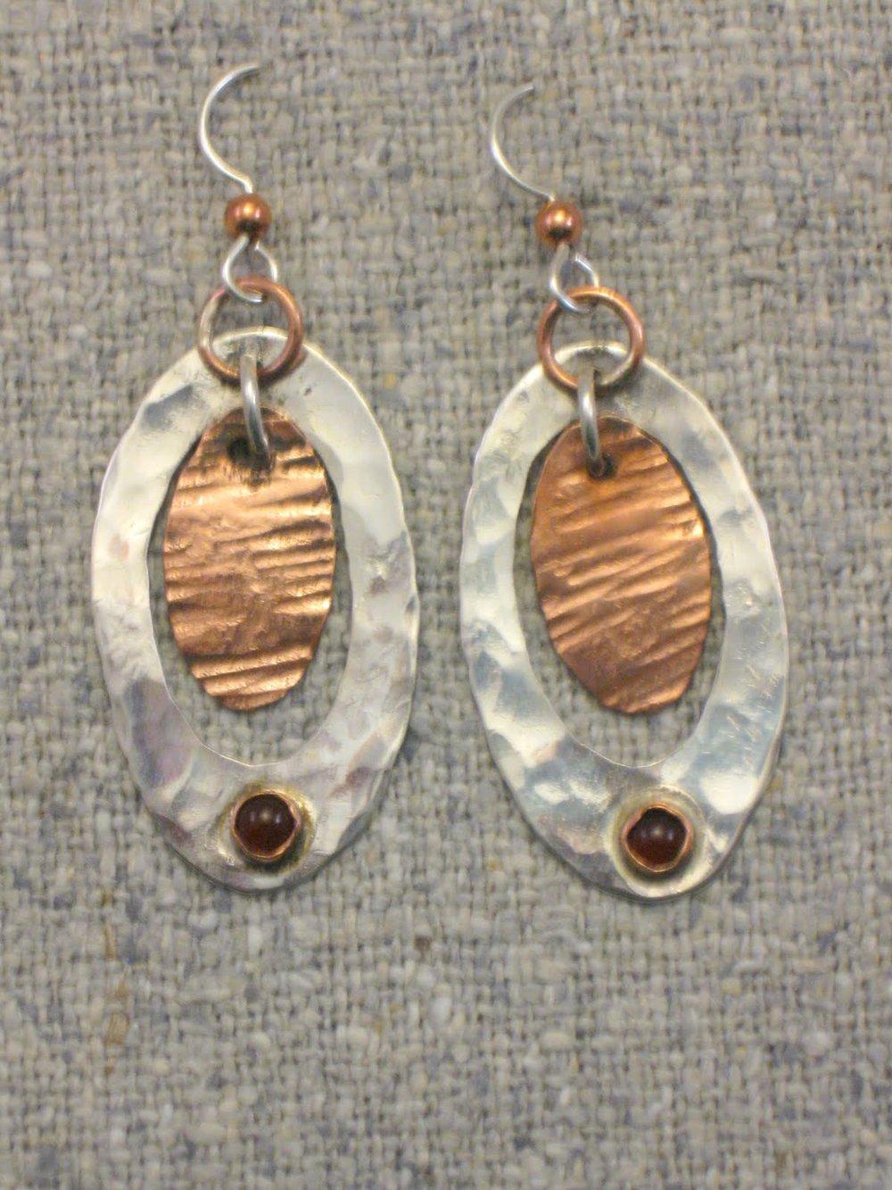stone oval dangles