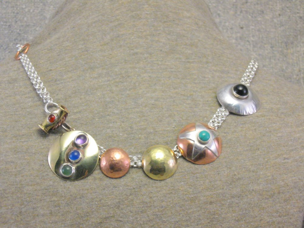 toggled dome necklace