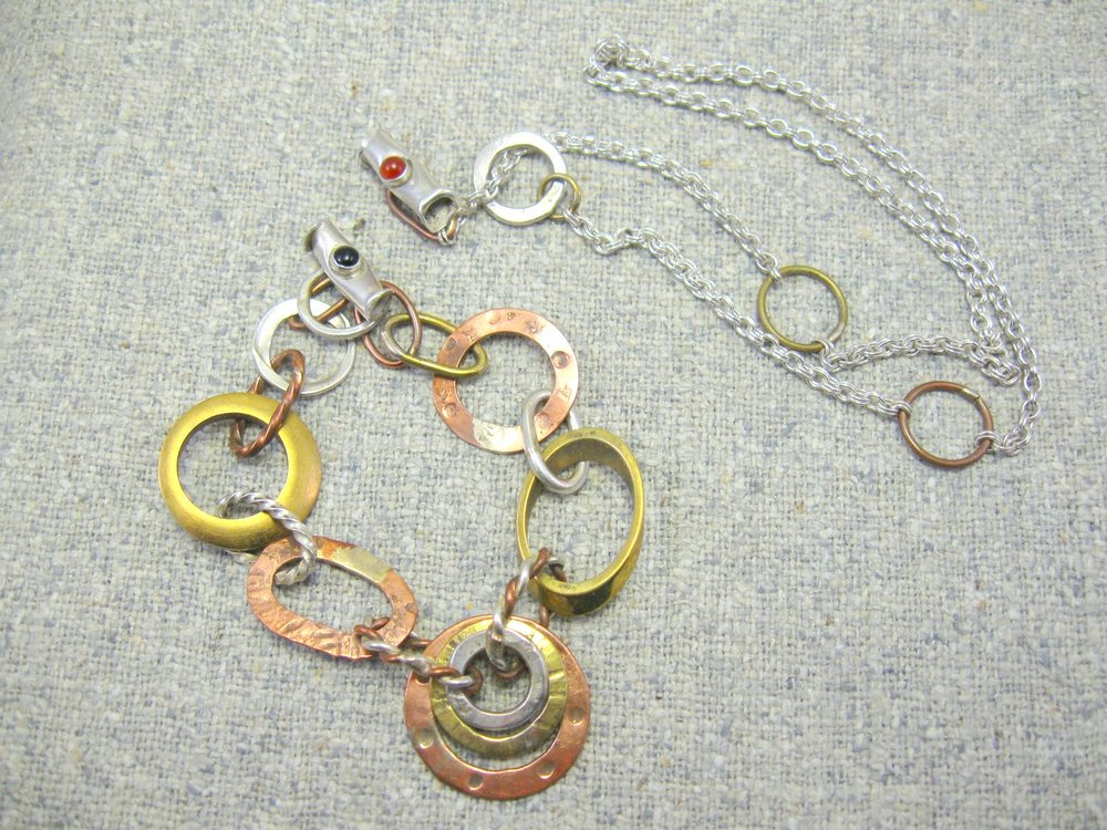 trilogy necklace-taken apart