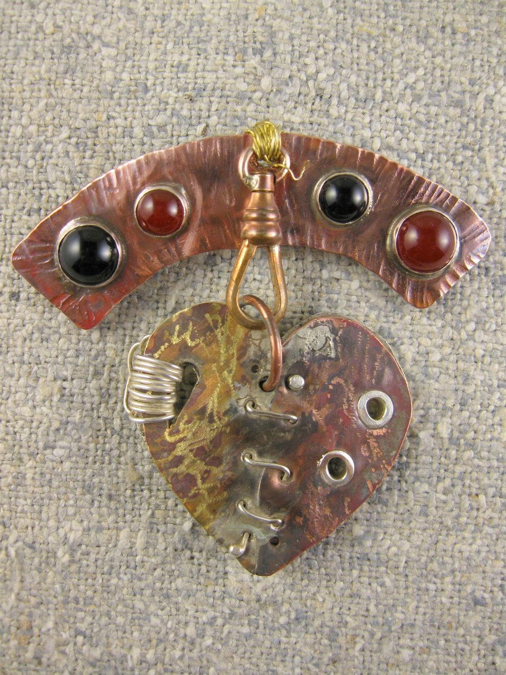courageous heart pin (2-sided heart)