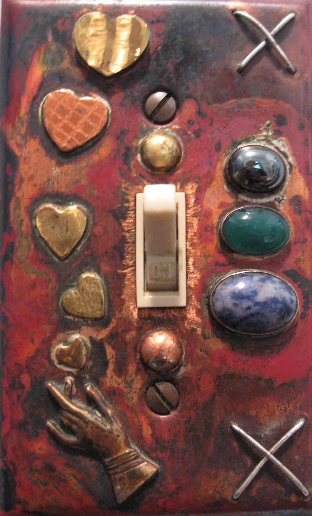 solid copper switchplate