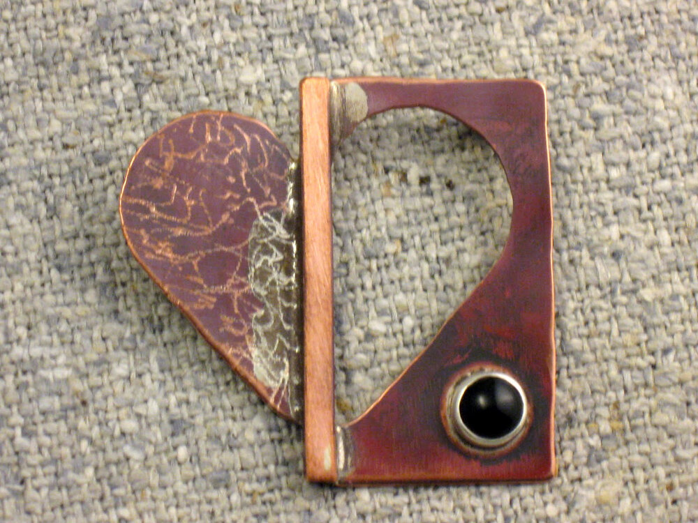 open heart pin