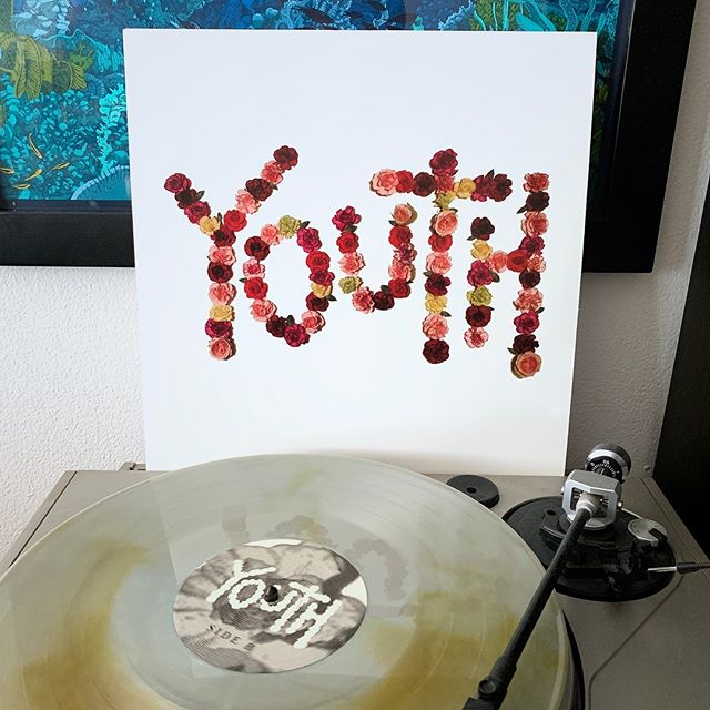 """It might be in the negatives outside, but at least I have the sounds of """"Youth"""" by @citizentheband to keep my mind sane in the cold. // #nowspinning #vinyl #vinylrecords #igvinylclub #igvinyl #citizen #citizenband #youth #coloredvinyl #runforcoverrecords"""