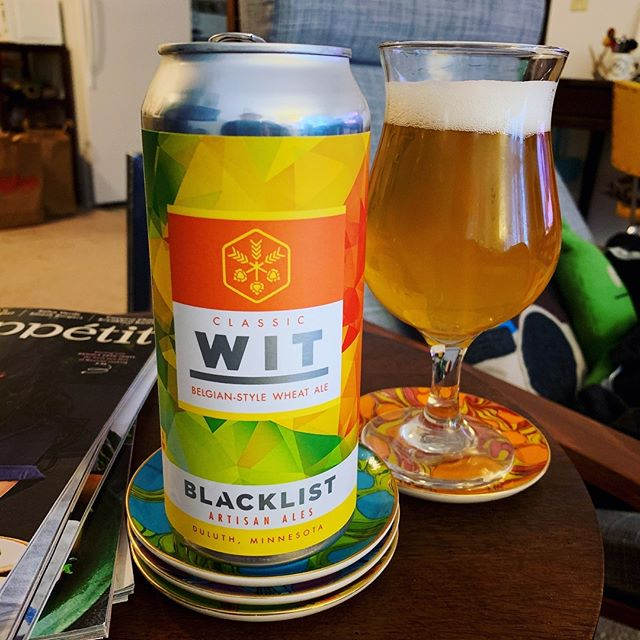 I was pumped when I found Blacklist the other day in my grocery store; I've been missing that sweet Duluth nectar. // #nowdrinking #thecraftbevs #mnbeer #mnbrewery #duluth #blacklistbrewing #wheatale #craftbeer #beerstagram #beer #beergeek