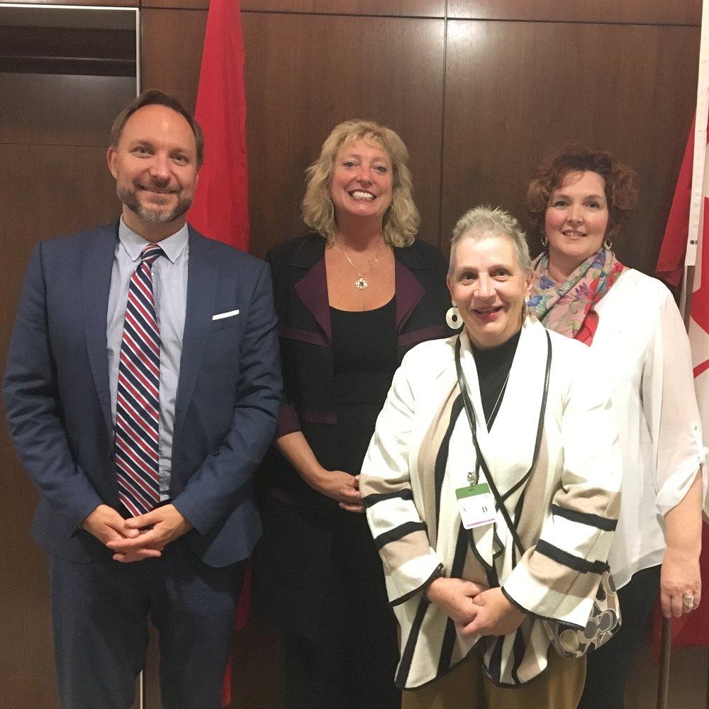 Greg Kyllo -  Canadian Mental Health Association   Marilyn Gladu  M.P. Sarnia-Lambton   Vicky Huehn -  PSR RPS Canada   Kim Hollihan -  Canadian Counselling and Psychotherapy Association