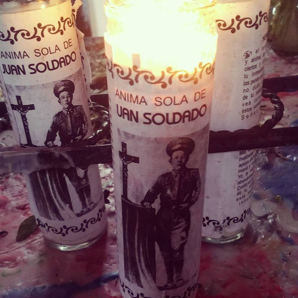 The candle I lit in the shrine of Juan Soldado.