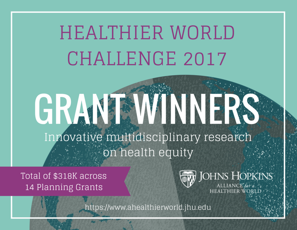 Since starting in mid 2017, the Healthier World Challenge Grants program has awarded a total of USD$318,000 across 14 multidisciplinary teams.