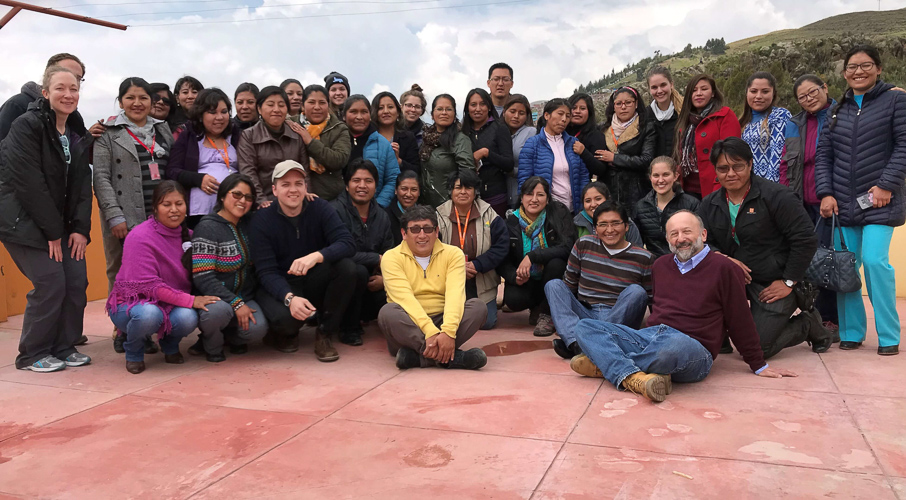 From grantee team -  Thermal cooker to reduce household air pollution in Puno Peru  - Right bottom corner, Steve Harvey (Principal Investigator), with team members David Danz, Kendra Williams, Elba Angeles, Danz, Leonora Condorí, Marysol Encarnación, and Marisa Henry.