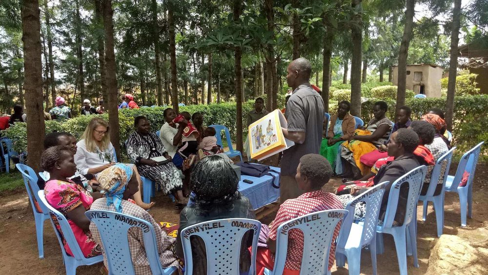 Chama group meeting in Kenya's Turbo community. Photo by Justus Elung'at Ikemeri