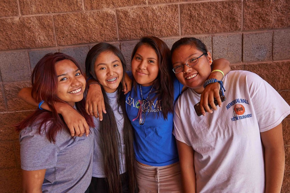 Participants in adolescent health program, White River AZ/Fort Apache, 2016. Photo credit: Ed Cunicelli