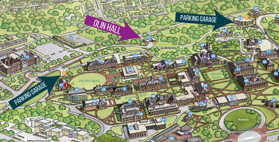 Olin Hall parking map.png