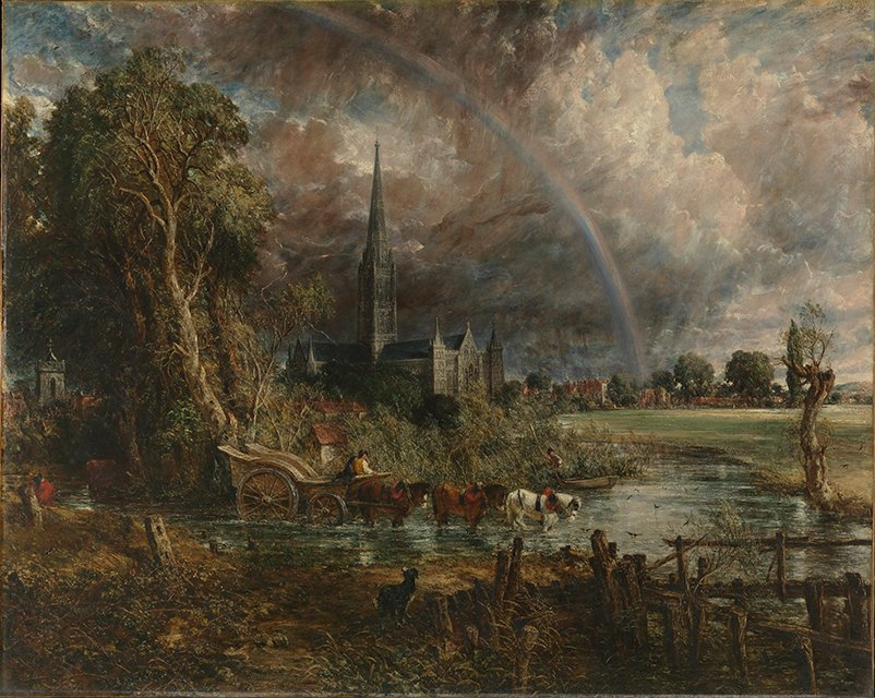 Salisbury Cathedral from the Meadows  (1831) by John Constable. National Museum Wales (Cardiff, UK).