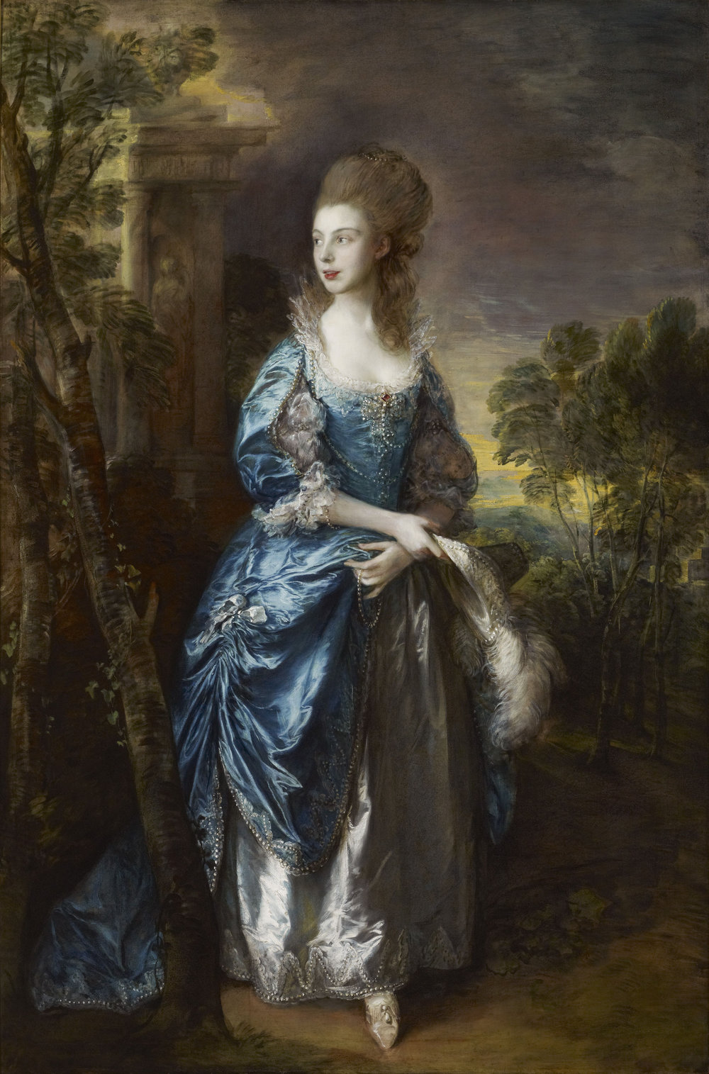 The Honorable Frances Duncombe  (c. 1777) by Thomas Gainsborough. The Frick Collection (New York, NY).
