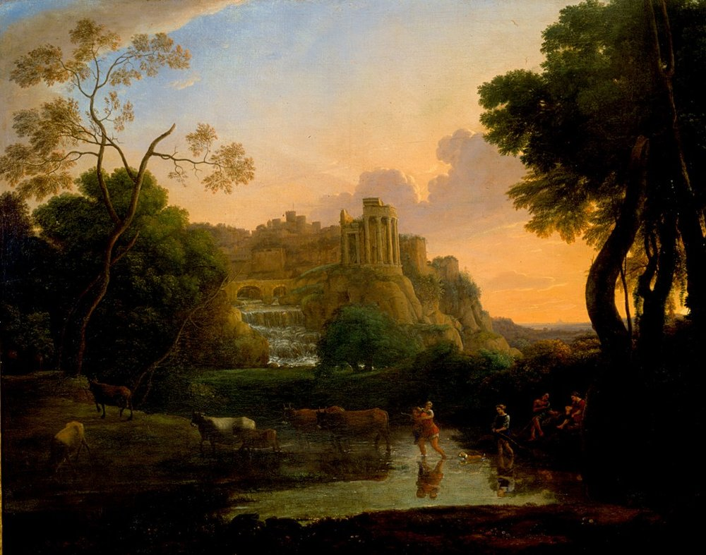 Ideal View of Tivoli    (1644)   by Claude Lorrain. New Orleans Museum of Art (New Orleans, LA).
