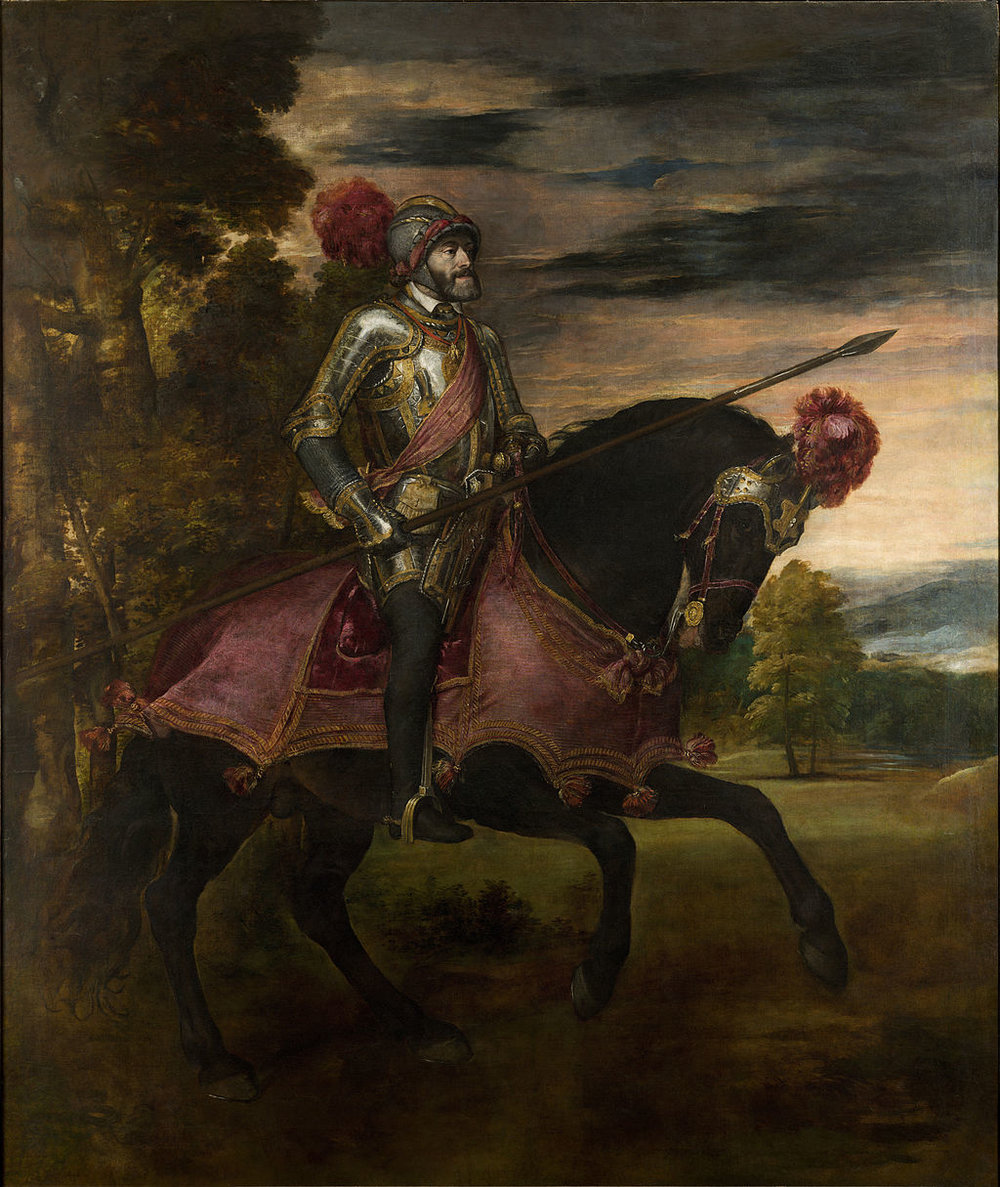 Equestrian Portrait of Charles V    (1548) by Titian. Museo del Prado (Madrid, Spain).