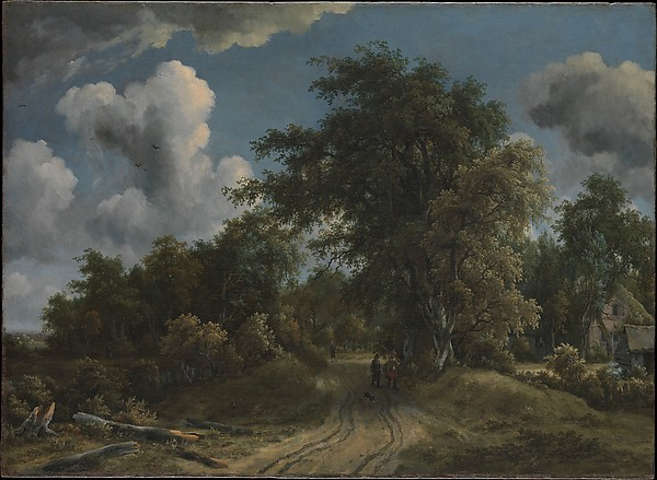 Woodland Road  (1670) by Meindert Hobbema. The Metropolitan Museum of Art (New York, NY).