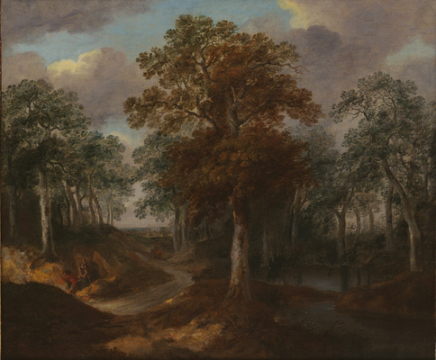 Cornard Wood, near Sudbury, Suffolk    (1748) by Thomas Gainsborough. The National Gallery (London, UK).