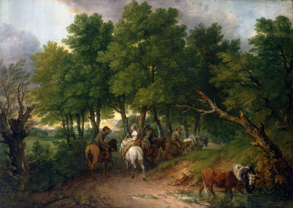 Road from Market    (1767-1768) by Thomas Gainsborough. Toledo Museum of Art (Toledo, OH).