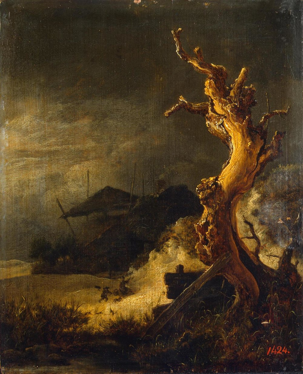 Winter Landscape with Dead Tree    (   1   670s) by Jacob van Ruisdael. The State Hermitage Museum (Saint Petersburg, Russia).